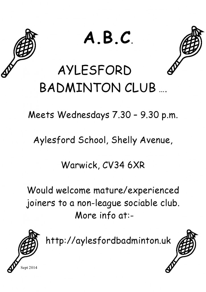 Aylesford badminton club